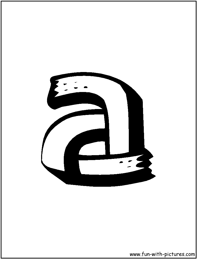 Alphabet A Coloring Page