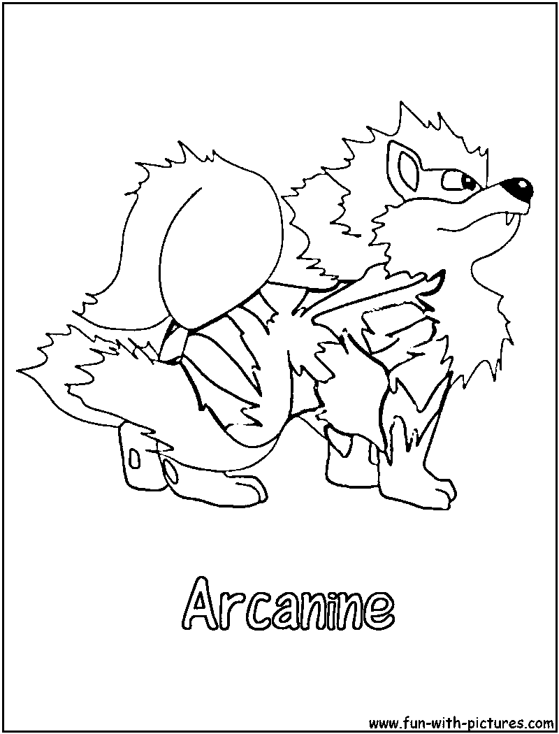 arcanine coloring pages - photo#15