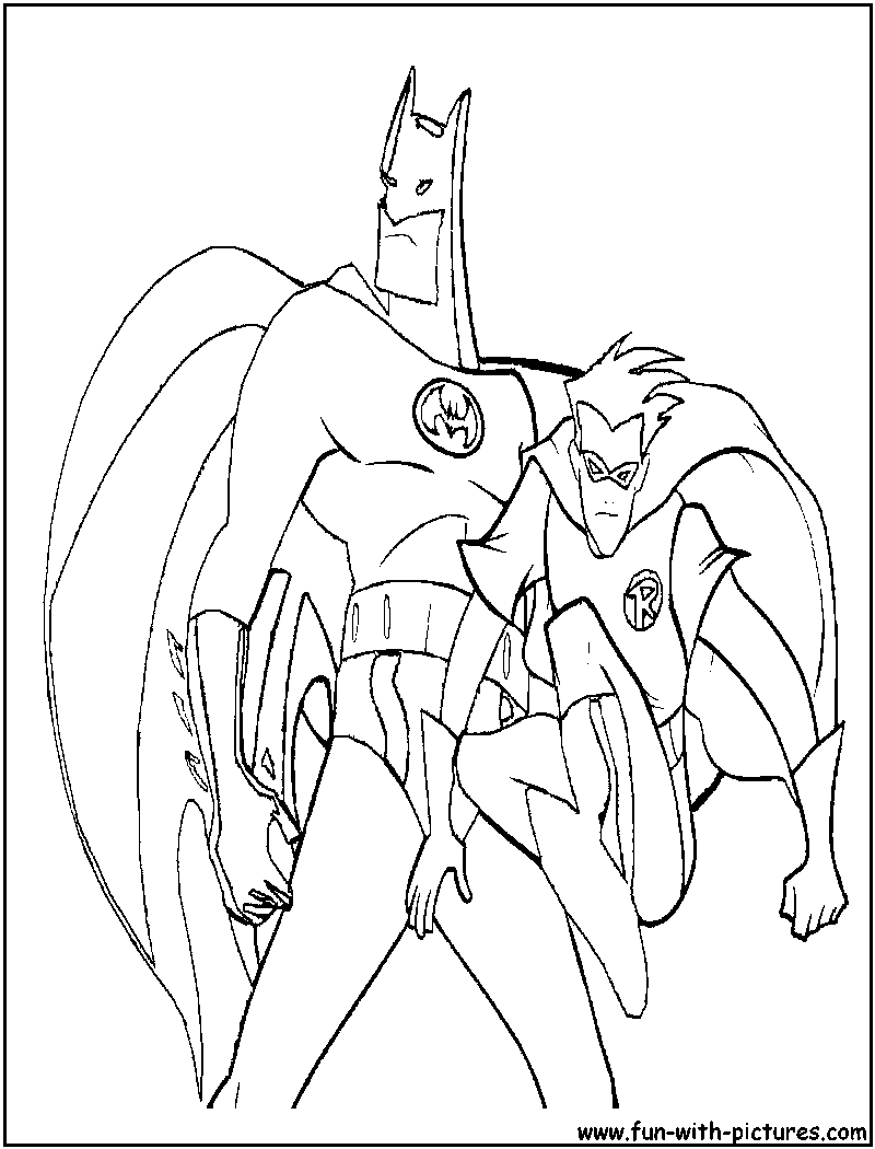 Red robin batman drawings sketch coloring page for Batman robin coloring pages