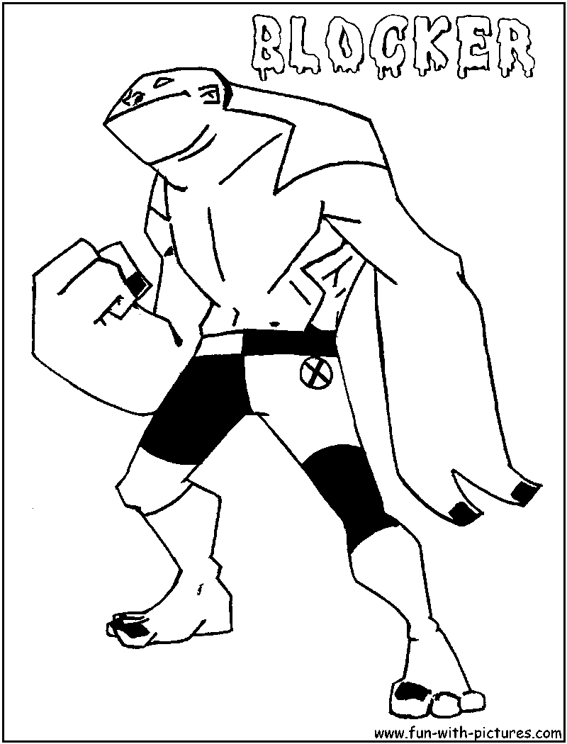 Ben 10 Ultimate Alien Goop Coloring Pages Coloring Pages