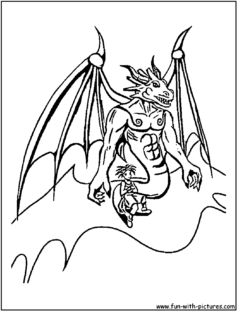 blue dragon coloring pages - photo#4
