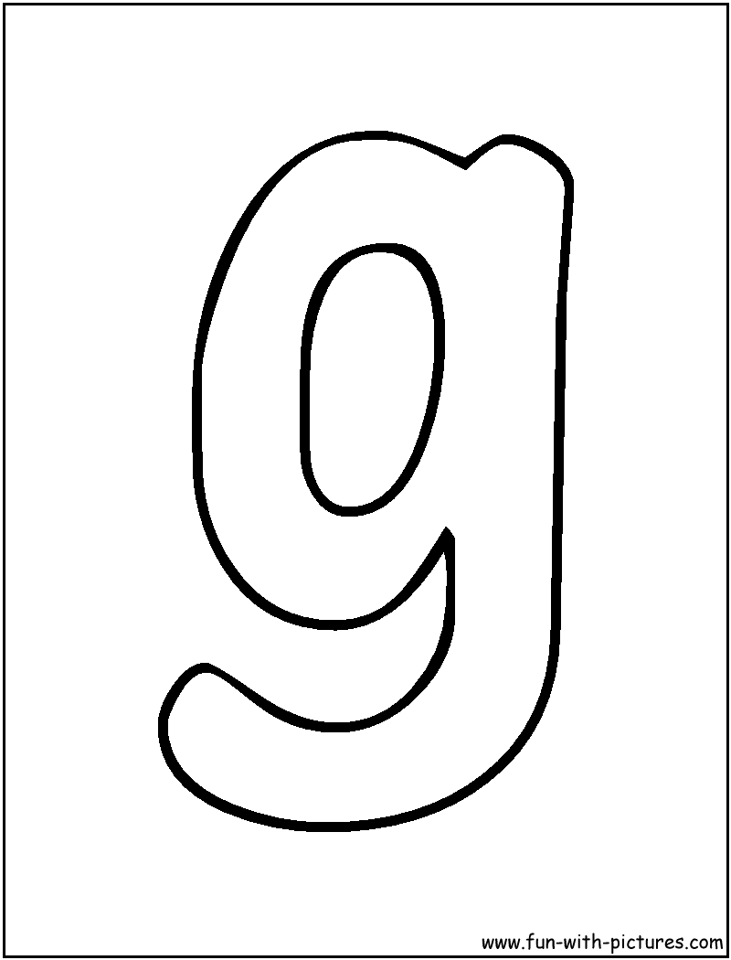 Free Coloring Pages Of Bubble Lower Case G
