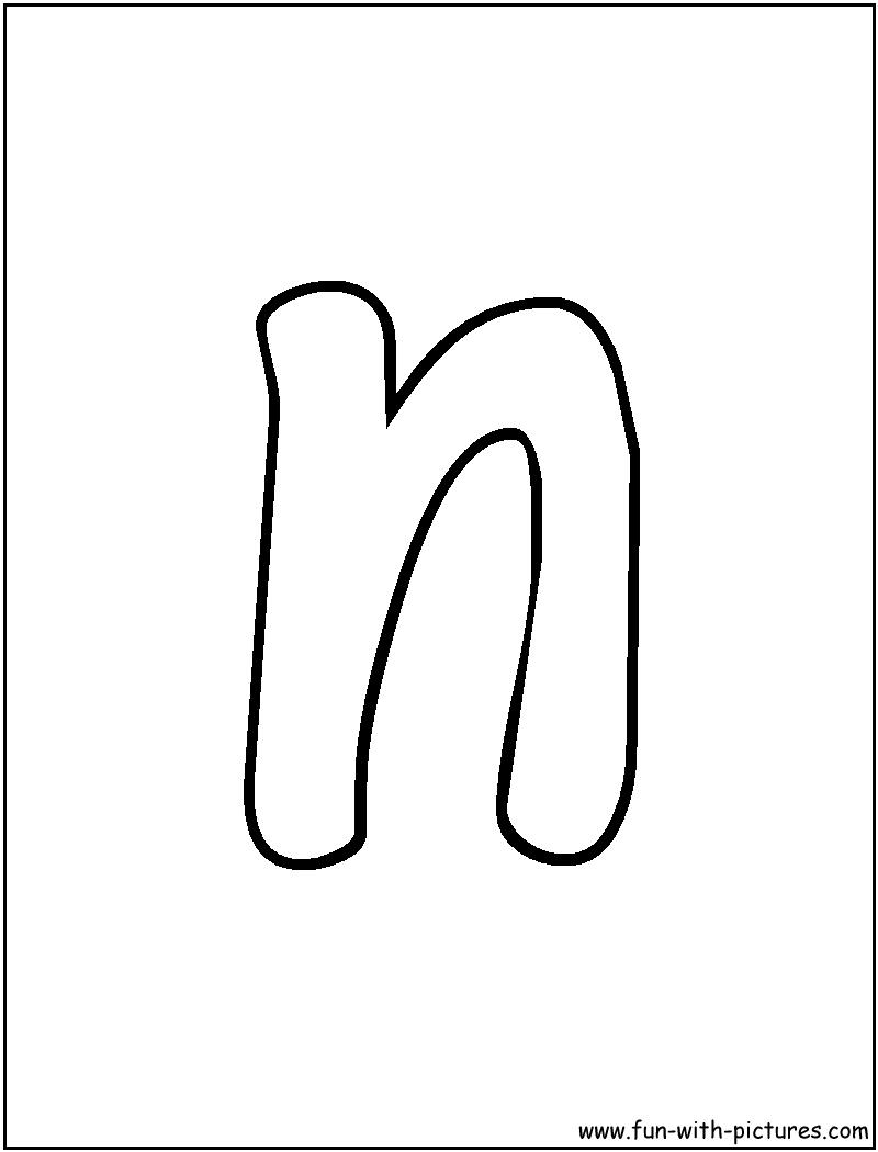 Printable Bubble Letters Bubble Letter N  Craft Jr