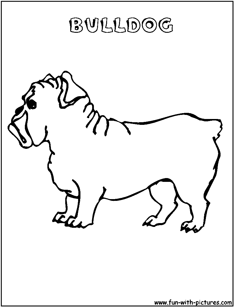 Bulldog Coloring Pages For Kids Coloring Page Coloring Coloring