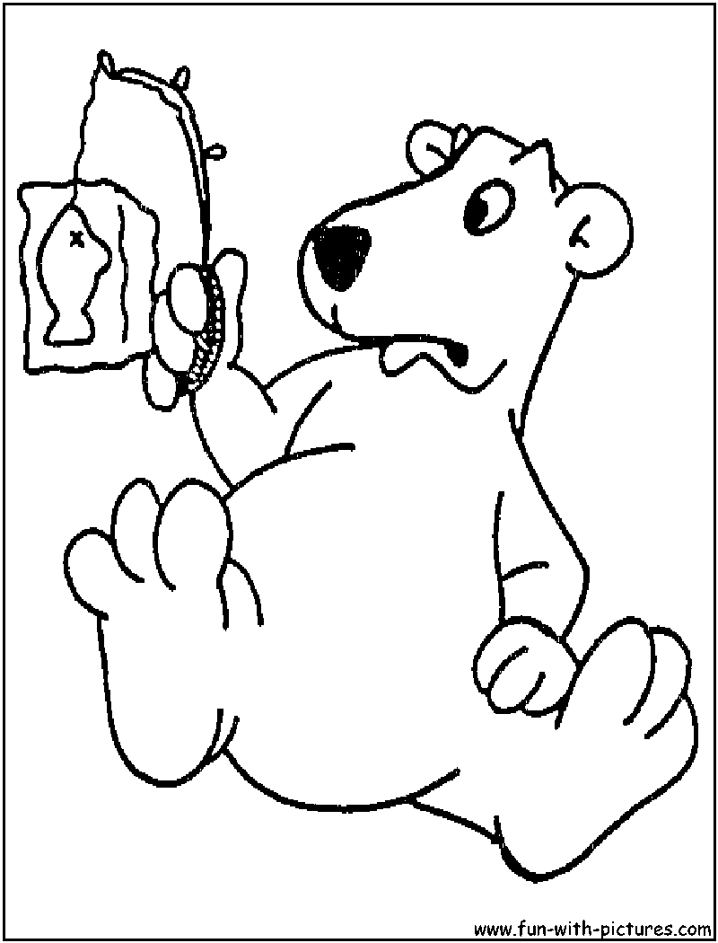 cartoon bears coloring pages - photo #11