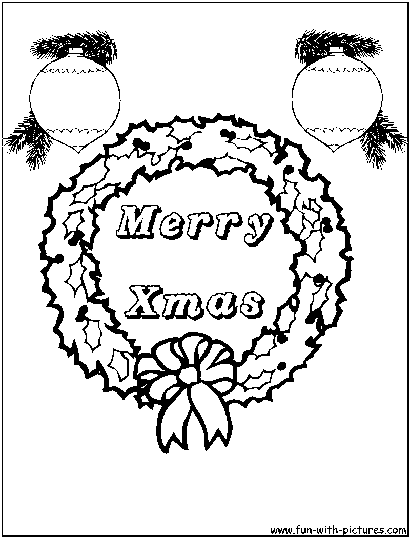 coloring pages christmas wreaths - photo #36