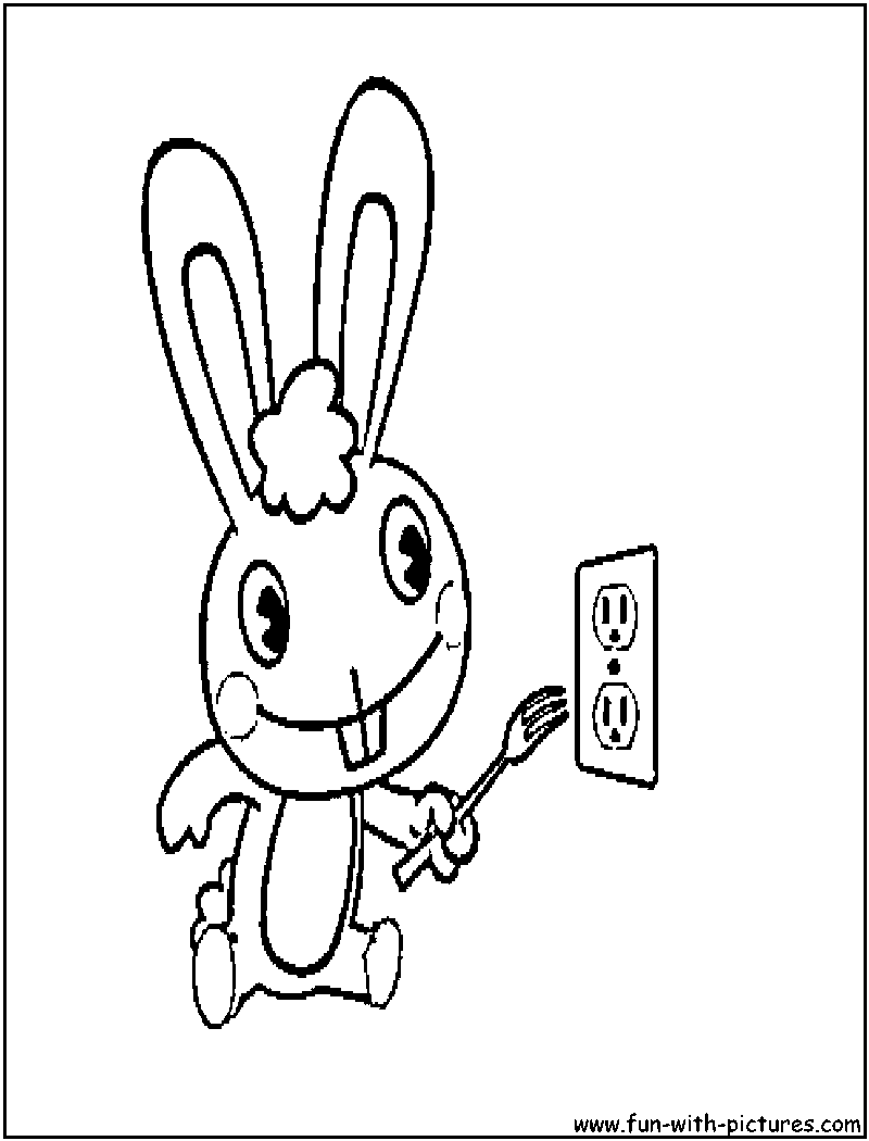 cuddles happytreefriends coloring page sketch template
