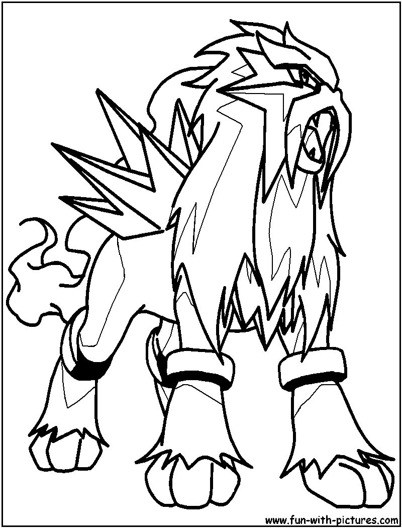 Entei Coloring Pages