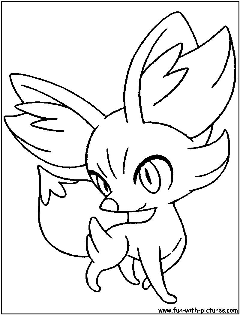 fennekin coloring page