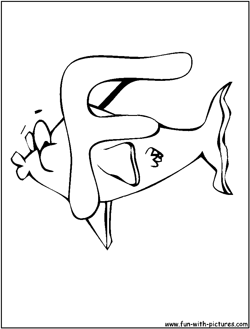 F Is For Fish Coloring Pages F Is For Fish Coloring Page