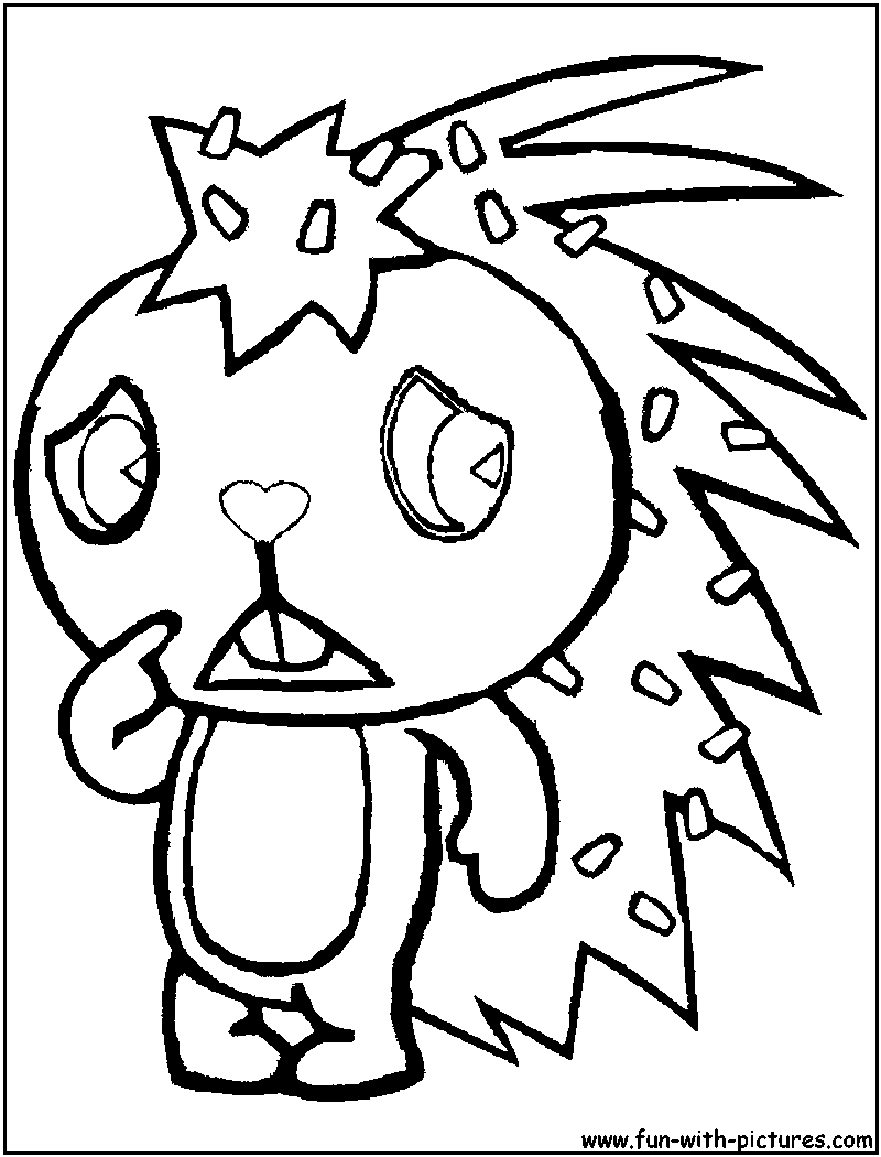 happy tree friends coloring pages - photo#6