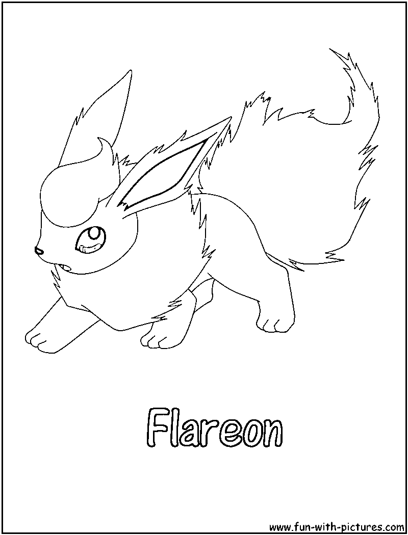 Pokemon Flareon Coloring Pages Sketch Coloring Page Flareon Coloring Pages