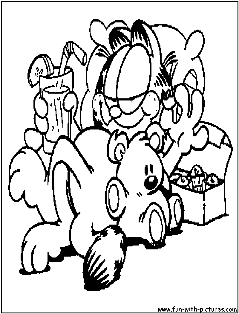 free the garfield show coloring pages