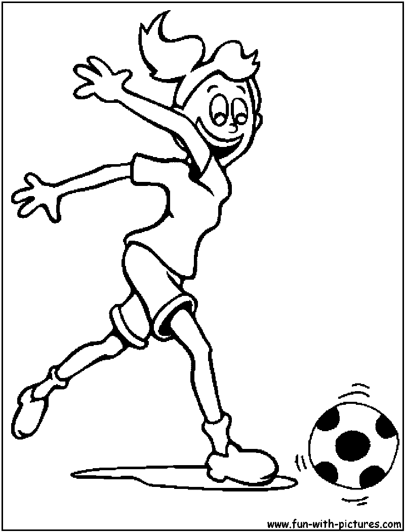 girl coloring page of playing soccer 800x1050px football picture girl football coloring page girl soccer - Girl Soccer Player Coloring Pages