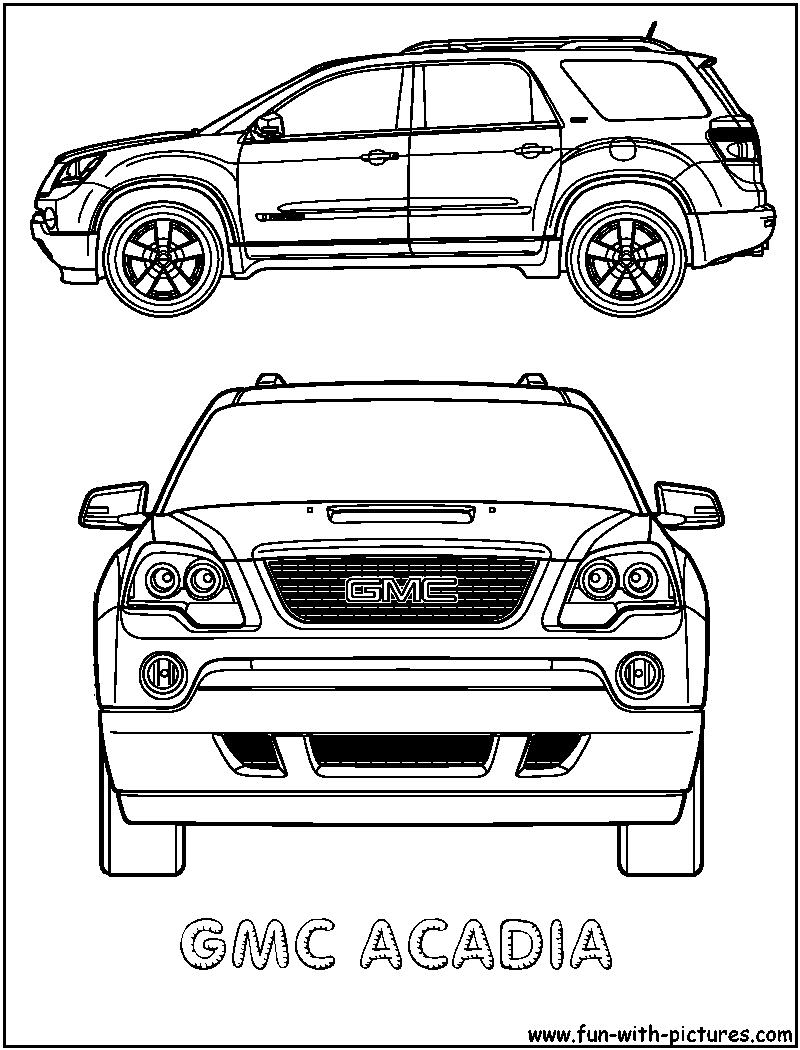 gmc coloring pages gmc free coloring pages