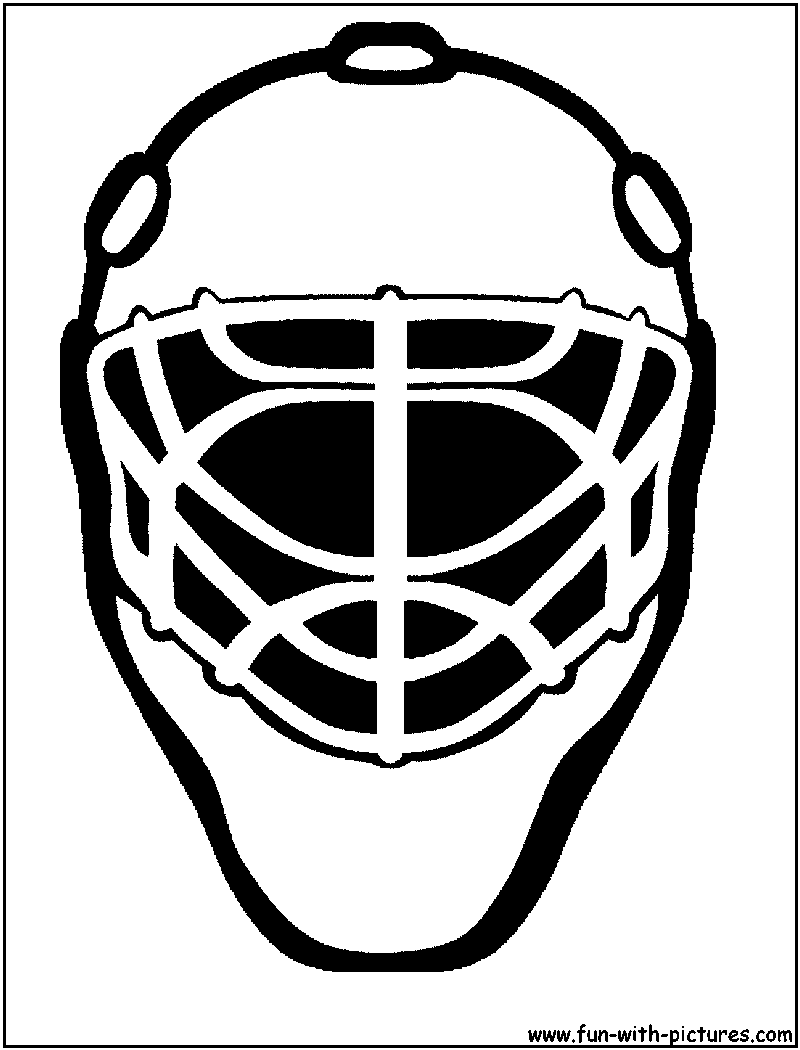 Hockey Goalie Pads Coloring Pages