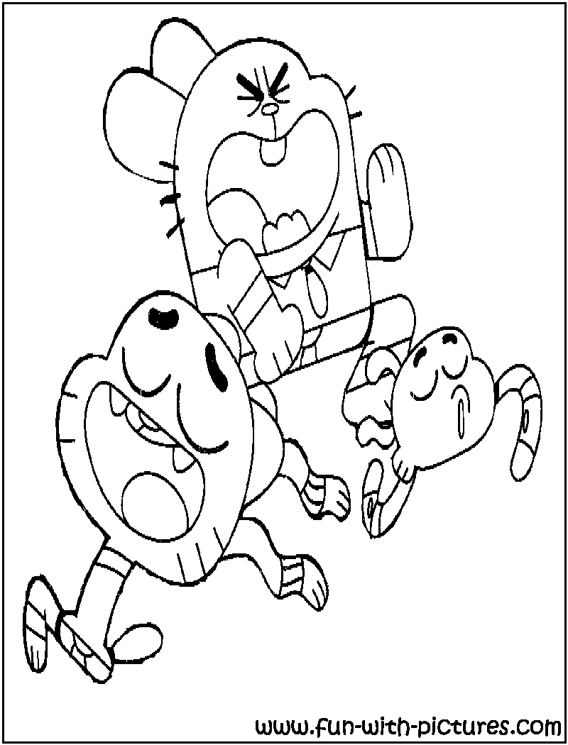 Amazing World Of Gumball Coloring Pages Sketch Coloring Page