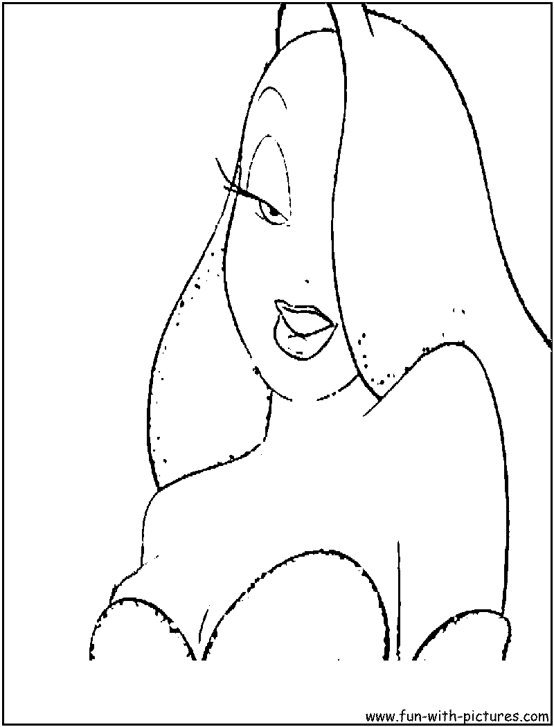 roger rabbit jessica coloring pages