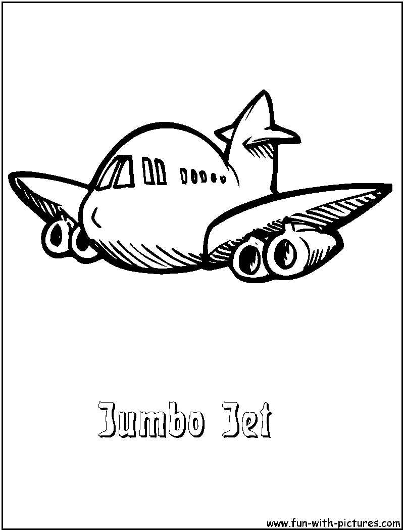 jumbo coloring pages - jumbo jet coloring page coloring coloring pages
