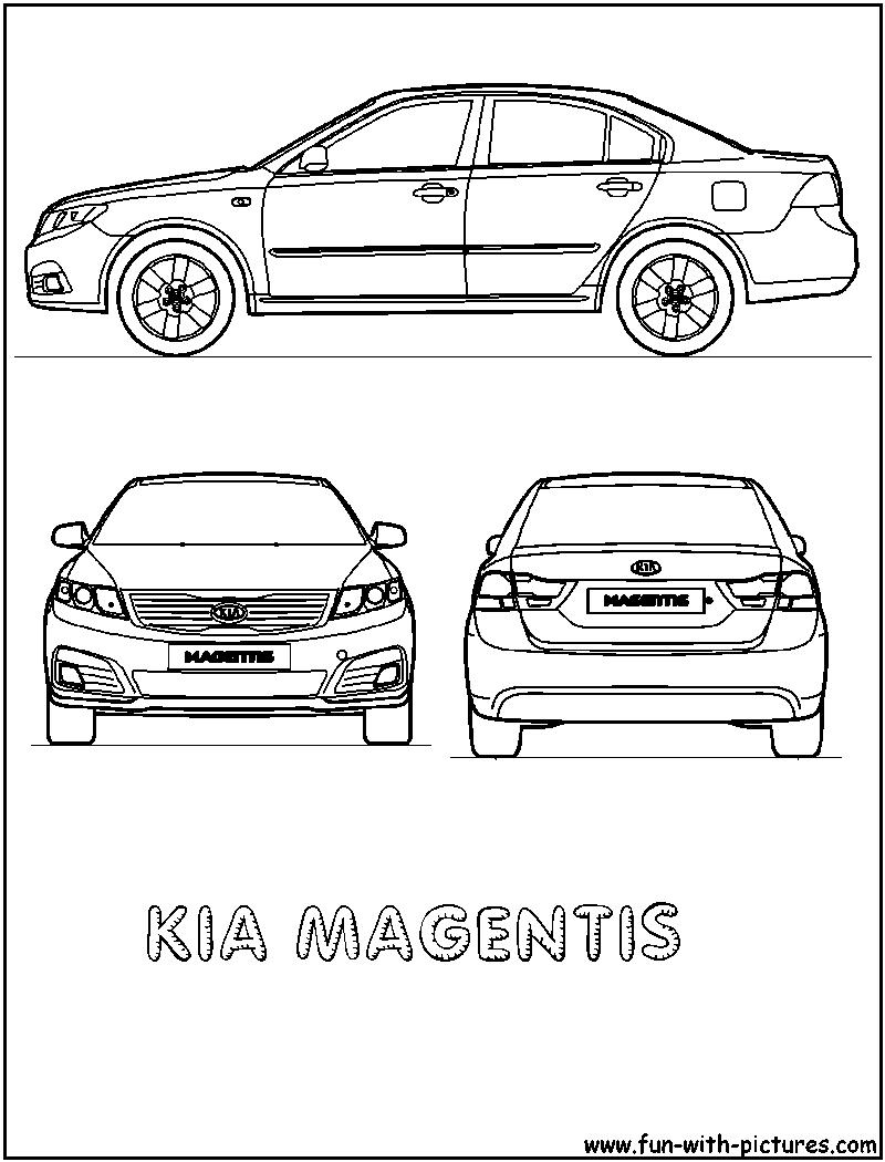 kia magentis coloring page of car