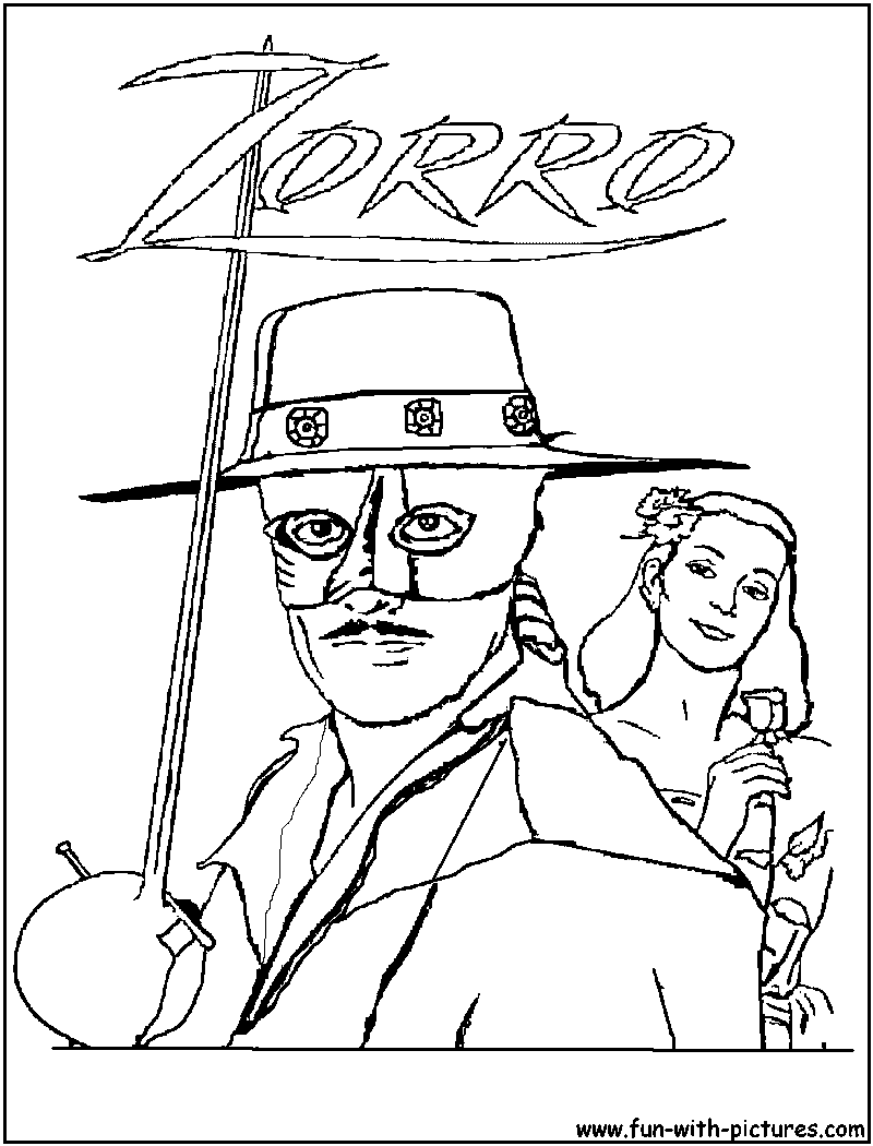 Coloring Pages Zorro : Zorro coloriage a imprimer dessins colorier imagixs
