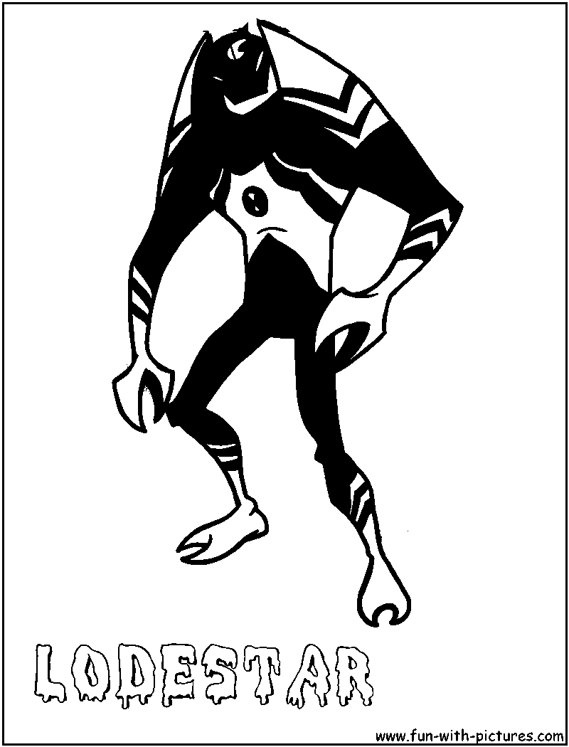 Lodestar Coloring Page Of Ben 10 Alien