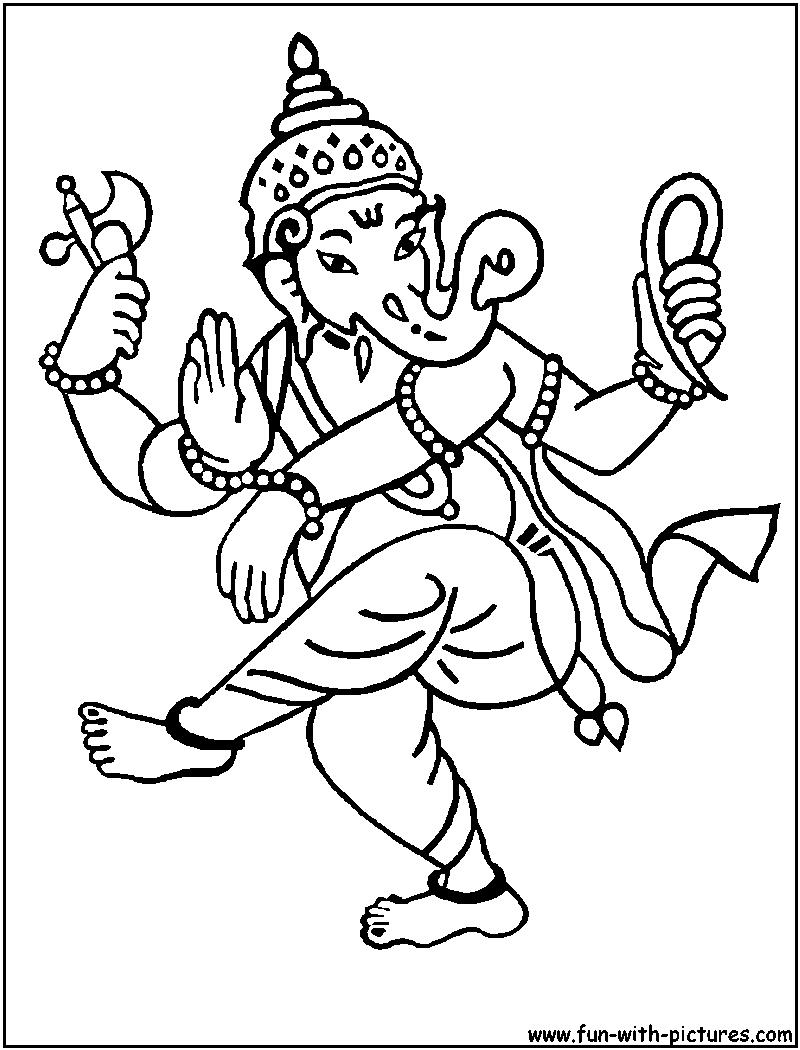 dancing ganesh coloring page sketch coloring page