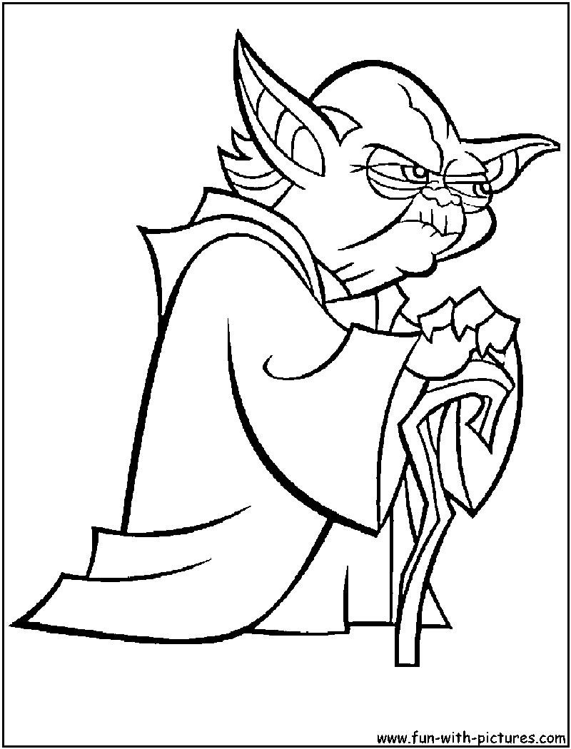 Master yoda coloring page