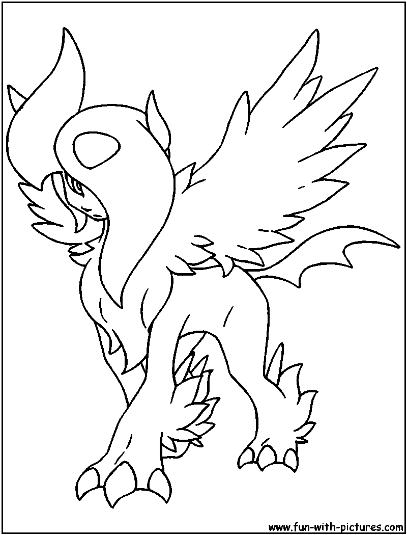 coloring pages absol - photo#8