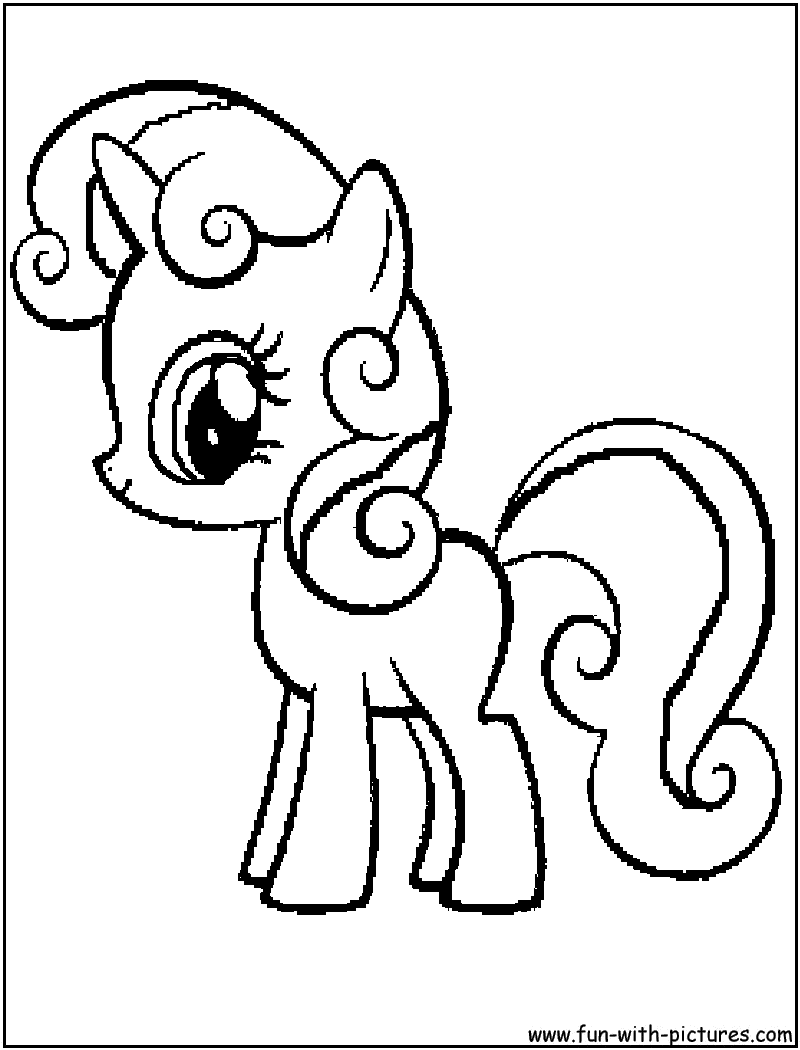 Mylittlepony Sweetiebelle Coloring Page