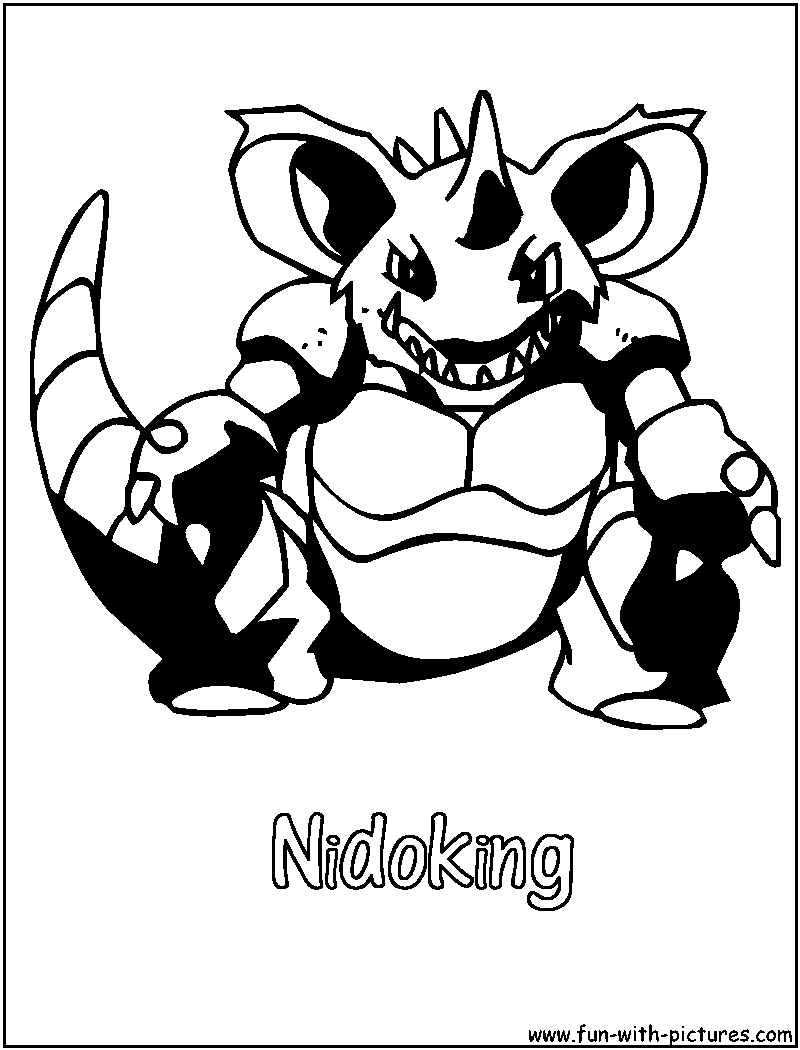 Poison Pokemon Coloring Pages Free Printable Colouring