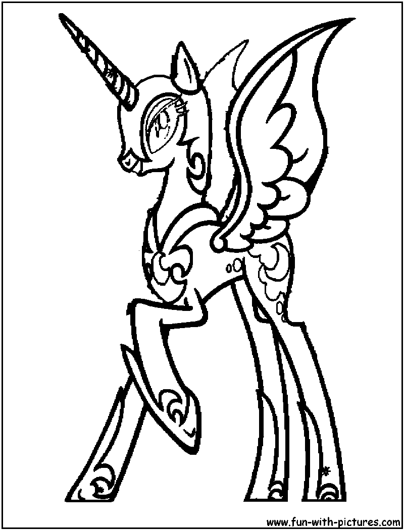 Nightmaremoon Coloring Page on nightmare trixie