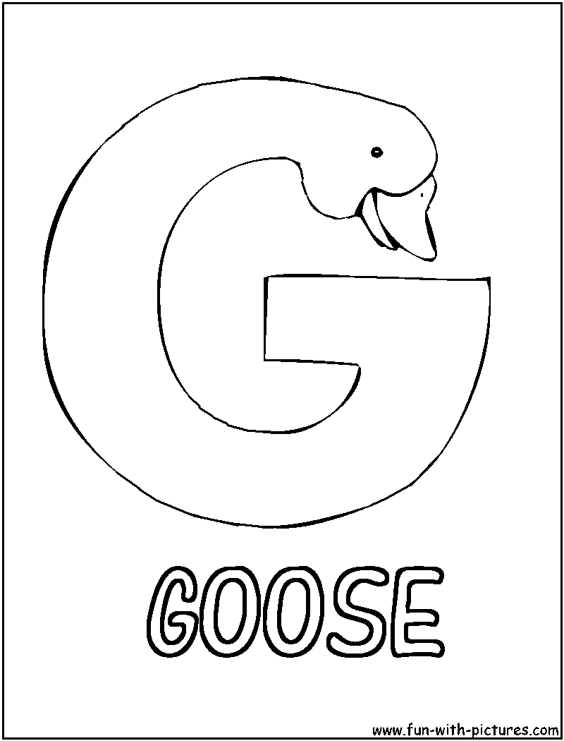 g coloring pages - photo #46