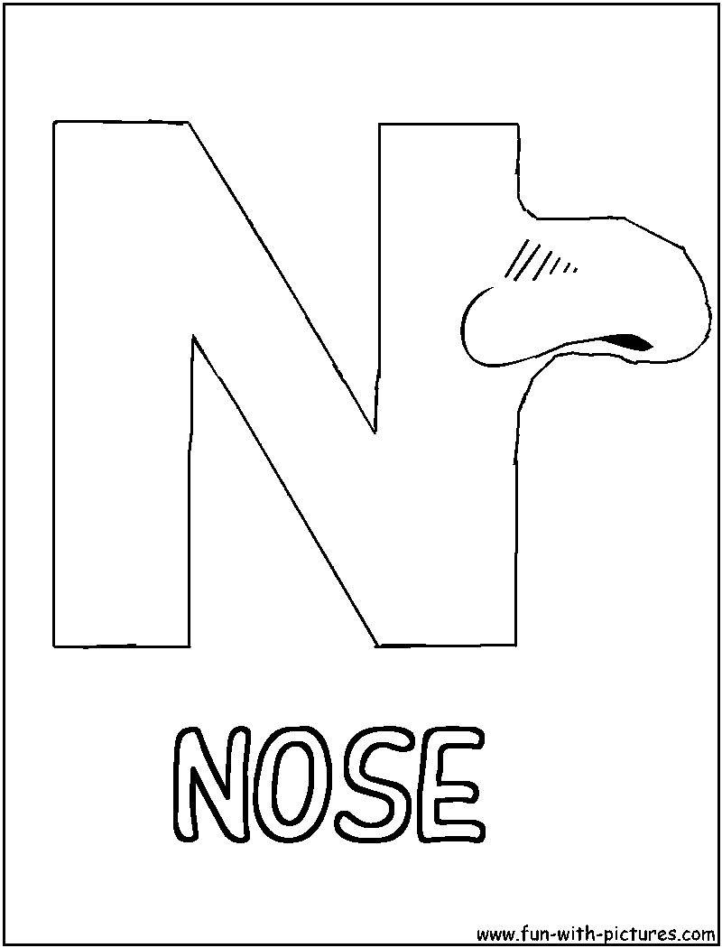 Coloring anime nose coloring pages for Nose coloring page