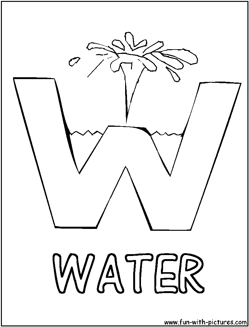 Picture Alphabets W Coloring Page