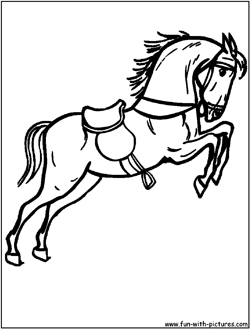 horse race coloring pages - photo#19