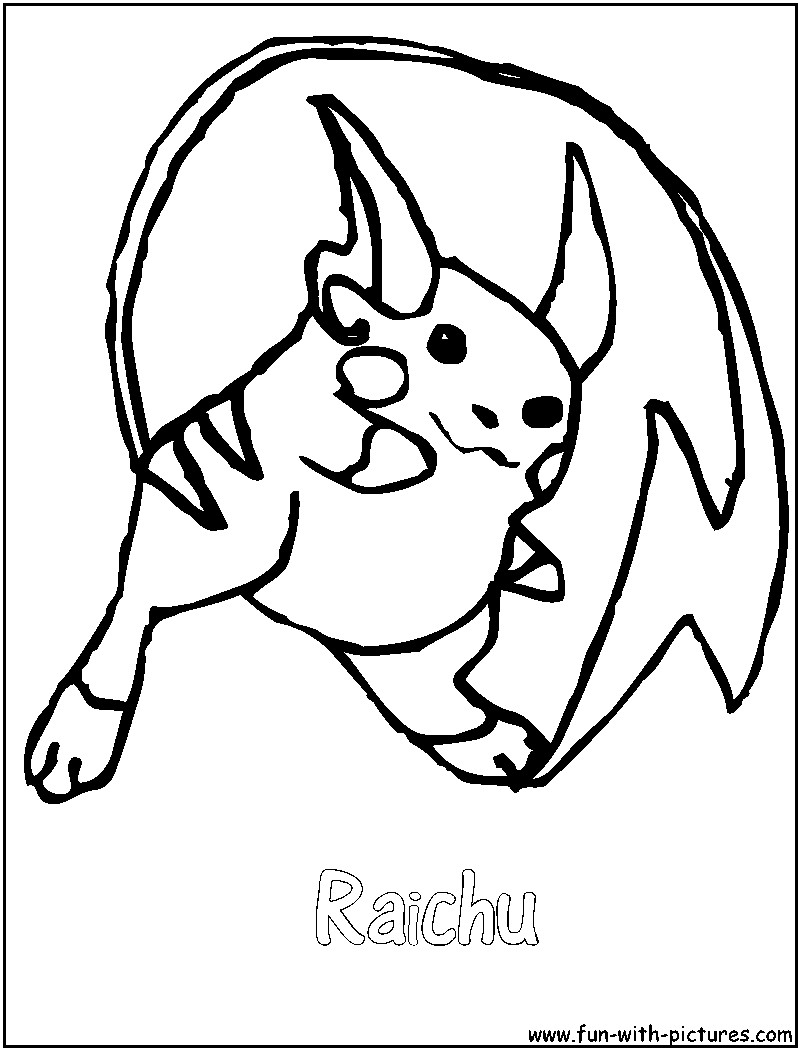 raichu and pikachu coloring pages