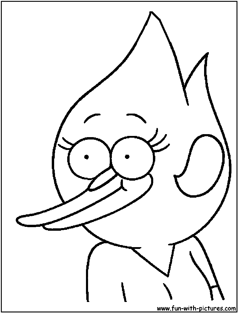 Regular show margaret coloring page for Regular show coloring pages to print