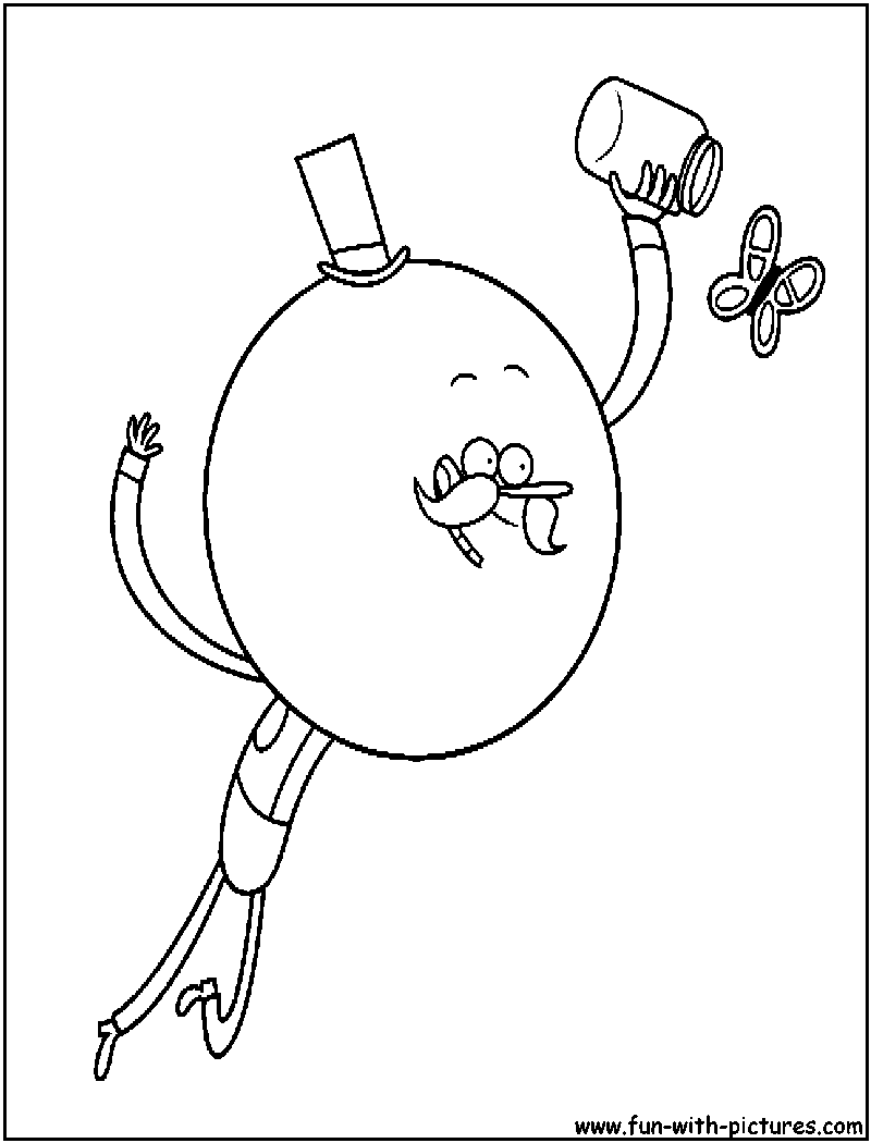 Shows free coloring pages for Regular show coloring pages to print