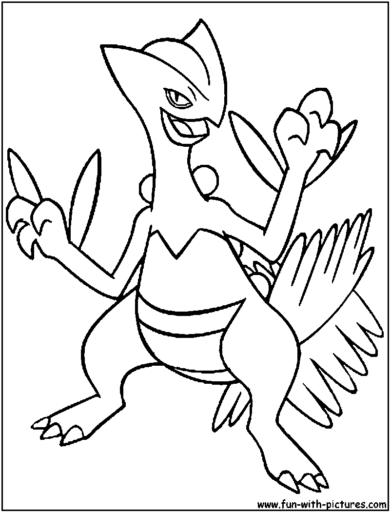 Pokemon coloring pages mega sceptile - View Larger Image Image