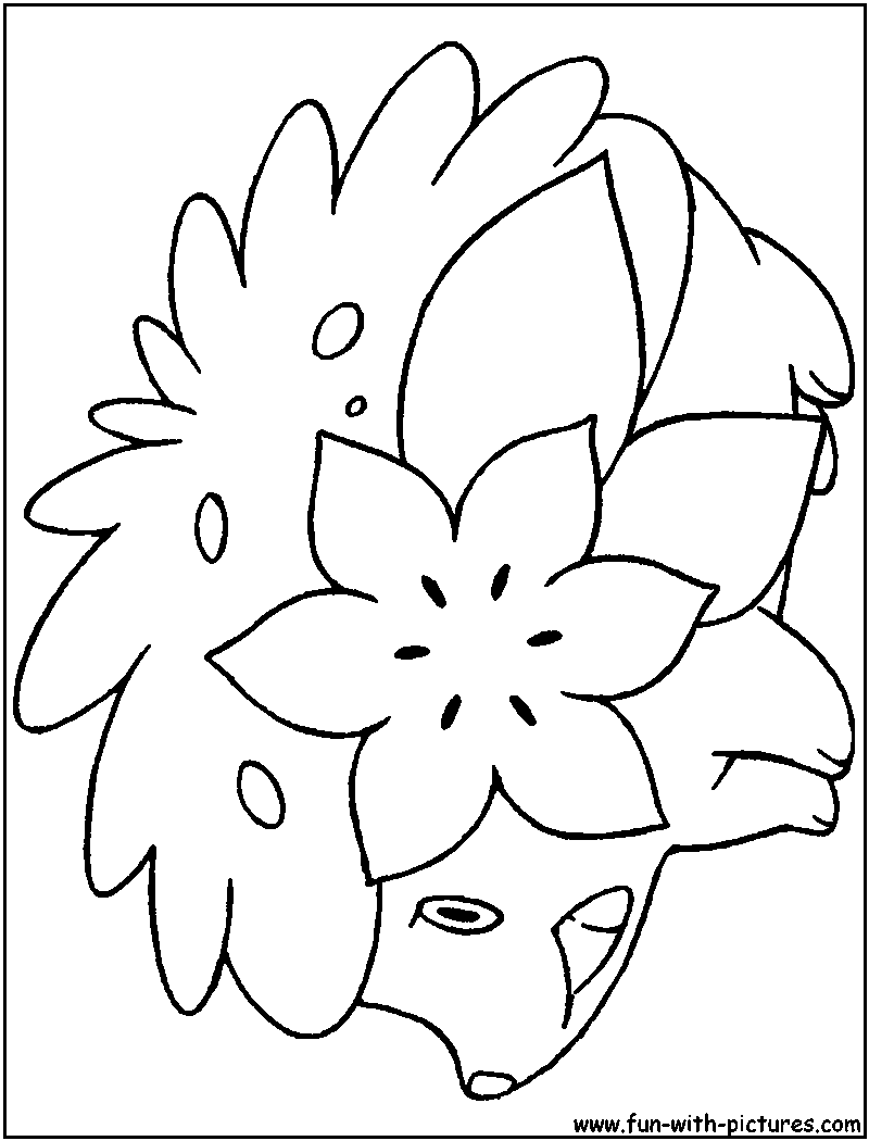 pokemon shaymin coloring pages - shaymin land coloring page