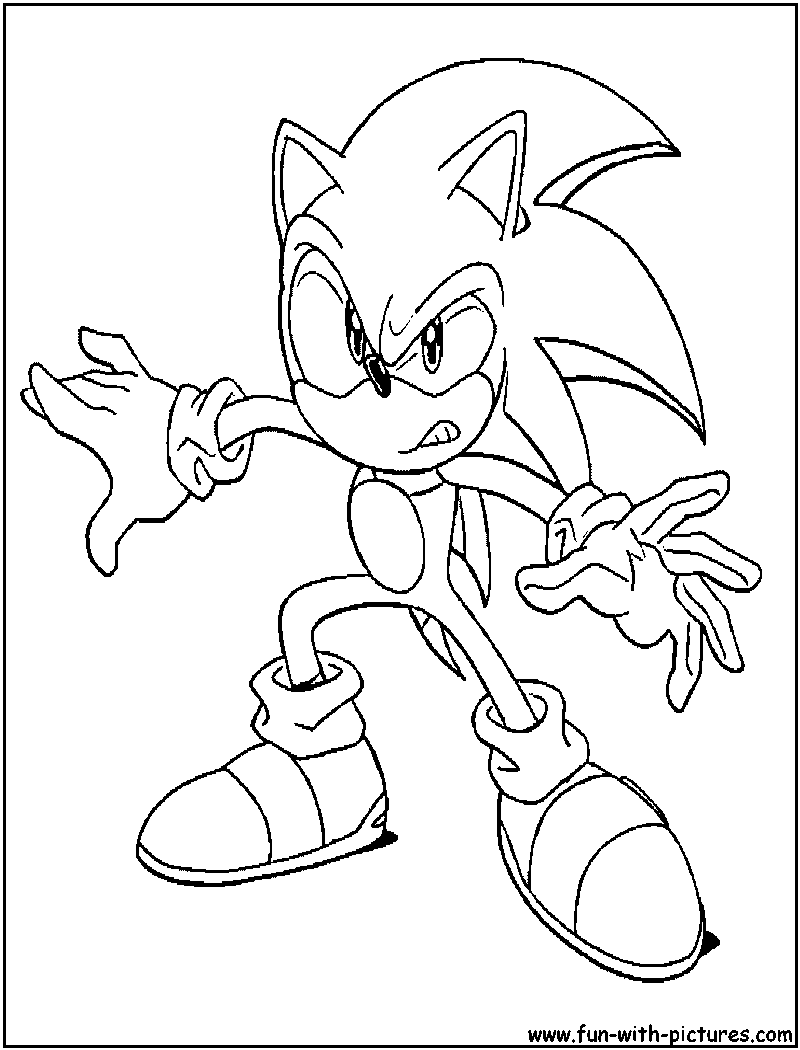 Sonic Hedgehog Coloring Pages