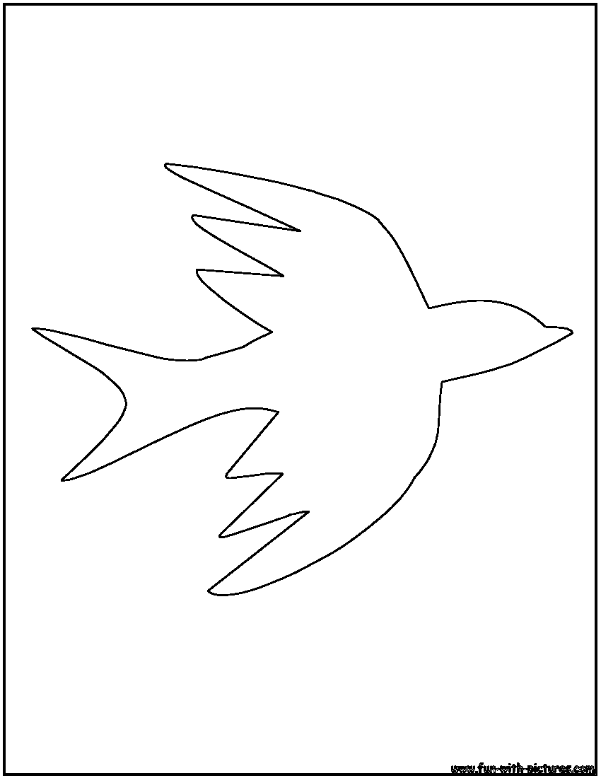 Bird Outlines Coloring Pages - Free Printable Colouring ...