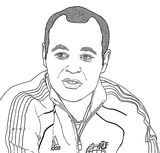 Andres Iniesta Coloring Page