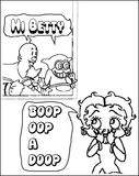 Betty Boop Comics Coloring Page
