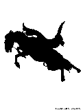 bucking horse silhouette