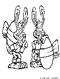 Easter Bunnies Coloring Page1