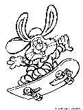 Easter Bunnies Coloring Page12