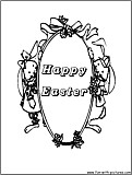 Easter Greetings Coloring Page