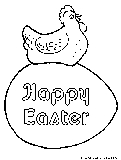 Easter Hen Coloring Page